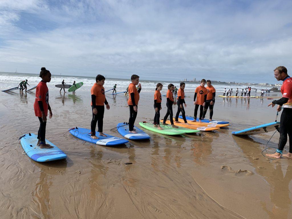 Première leçon de surf
